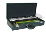 American Mah Jong Set - White Tiles - Leatherette Case - Black - Item: 2317