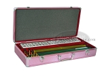 American Mah Jong Set - White Tiles - Aluminum Case - Pink - Item: 1608