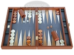 Zaza & Sacci Leather/Microfiber Backgammon Set - Model ZS-425 - Brown