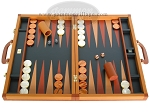 picture of Zaza & Sacci Leather Backgammon Set - Model ZS-888 - Large - Brown (1 of 12)
