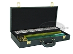 American Mah Jong Set - White Tiles - Faux Alligator Case - Matte Black - Item: 1601
