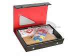 American Mah Jong Set - Black Faux Lizard Travel Case