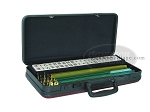 American Mah Jong Set - White Tiles - Luggage Case - Burgundy - Item: 1612