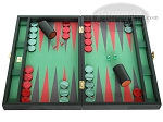 Zaza & Sacci Leather/Microfiber Backgammon Set - Model ZS-425 - Black - Item: 2161