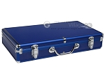 Large Empty Aluminum Mah Jong Case - Dark Blue - Item: 2346