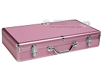 Large Empty Aluminum Mah Jong Case - Pink