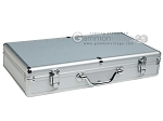 Large Empty Aluminum Mah Jong Case - Silver - Item: 2347