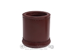 Leather Backgammon Dice Cup - Round - Light Brown