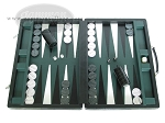 Marcello de Modena Leather Backgammon Set - Model MM-621 - Large - Croco Black - Item: 2226