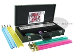picture of American Mah Jong Set - White Tiles - Leatherette Case - Black (2 of 8)