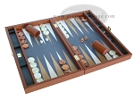 picture of Zaza & Sacci Leather/Microfiber Backgammon Set - Model ZS-425 - Brown (2 of 12)