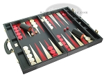 picture of Zaza & Sacci® Leather Backgammon Set - Model ZS-501 - Medium - Black (2 of 12)
