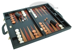 picture of Zaza & Sacci® Leather Backgammon Set - Model ZS-612 - Large - Black (2 of 12)