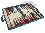 picture of Zaza & Sacci® Leather Backgammon Set - Model ZS-612 - Large - Blue (2 of 12)