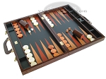 picture of Zaza & Sacci Leather Backgammon Set - Model ZS-612 - Large - Brown Croco (2 of 12)