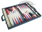 picture of Zaza & Sacci® Leather/Microfiber Backgammon Set - Model ZS-760 - Large - Blue (2 of 12)