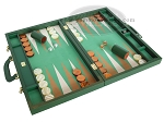 picture of Zaza & Sacci Leather/Microfiber Backgammon Set - Model ZS-760 - Large - Green (2 of 12)