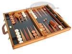 picture of Zaza & Sacci Leather Backgammon Set - Model ZS-888 - Large - Brown (2 of 12)