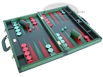 picture of Zaza & Sacci Leather Backgammon Set - Model ZS-888 - Large - Green (2 of 12)