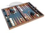 picture of Zaza & Sacci® Folding Wood Backgammon Set - Model ZS-008 - Large - Leather/Mahogany (2 of 12)