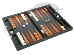 picture of Zaza & Sacci® Leather Backgammon Set - Model ZS-200 - Travel - Black (2 of 11)