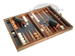 picture of Zaza & Sacci® Folding Wood Backgammon Set - Model ZS-004 - Medium - Leather/Mahogany (2 of 12)