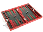picture of Zaza & Sacci® Leather Backgammon Set - Model ZS-200 - Travel - Red (2 of 12)