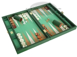 picture of Zaza & Sacci Leather/Microfiber Backgammon Set - Model ZS-425 - Green (2 of 12)