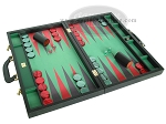 picture of Zaza & Sacci® Leather/Microfiber Backgammon Set - Model ZS-760 - Large - Black (2 of 12)