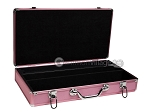 picture of Large Empty Aluminum Mah Jong Case - Pink (2 of 4)