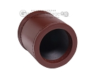 picture of Leather Backgammon Dice Cup - Round - Light Brown (2 of 2)