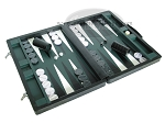 picture of Marcello de Modena Leather Backgammon Set - Model MM-621 - Large - Croco Black (2 of 12)