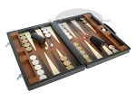 picture of Marcello de Modena Leather Backgammon Set - Model MM-642 - Large - Brown (2 of 12)