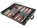 picture of Zaza & Sacci® Leather Backgammon Set - Model ZS-501 - Medium - Black (3 of 12)