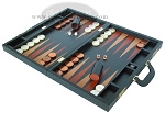 picture of Zaza & Sacci® Leather Backgammon Set - Model ZS-612 - Large - Black (3 of 12)