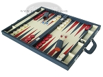 picture of Zaza & Sacci Leather Backgammon Set - Model ZS-612 - Large - Blue (3 of 12)