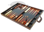 picture of Zaza & Sacci Leather Backgammon Set - Model ZS-612 - Large - Brown Croco (3 of 12)