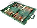 picture of Zaza & Sacci® Leather Backgammon Set - Model ZS-612 - Large - Green (3 of 12)