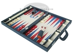 picture of Zaza & Sacci Leather/Microfiber Backgammon Set - Model ZS-760 - Large - Blue (3 of 12)