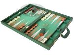 picture of Zaza & Sacci Leather/Microfiber Backgammon Set - Model ZS-760 - Large - Green (3 of 12)