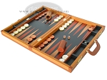 picture of Zaza & Sacci Leather Backgammon Set - Model ZS-888 - Large - Brown (3 of 12)