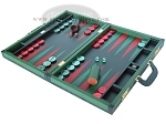 picture of Zaza & Sacci® Leather Backgammon Set - Model ZS-888 - Large - Green (3 of 12)