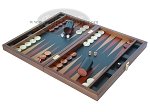 picture of Zaza & Sacci® Folding Wood Backgammon Set - Model ZS-008 - Large - Leather/Mahogany (3 of 12)