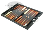 picture of Zaza & Sacci® Leather Backgammon Set - Model ZS-200 - Travel - Black (3 of 11)