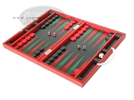 picture of Zaza & Sacci® Leather Backgammon Set - Model ZS-200 - Travel - Red (3 of 12)