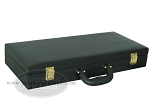 Empty Faux Alligator Mah Jong Case - Matte Black - Item: 2212