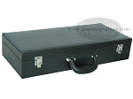 Empty Leatherette Mah Jong Case - Black