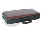 Empty Hard Mah Jong Case (fits pushers) - Burgundy - Item: 2210