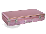 Empty Aluminum Mah Jong Case with Diamond Surface - Pink - Item: 2213