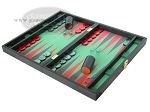 picture of Zaza & Sacci Leather/Microfiber Backgammon Set - Model ZS-425 - Black (3 of 12)